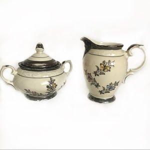 Bavaria Dekor Feinsilber Creamer & Sugar  Bowl